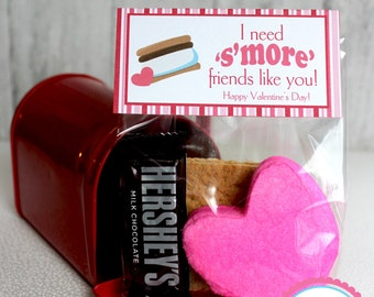 Smore Valentine Bag Topper - DIY Printable - INSTANT DOWNLOAD