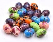 Porcelain  Beads, 20pcs, 15x12mm, 2mm Hole,  Floral -B502
