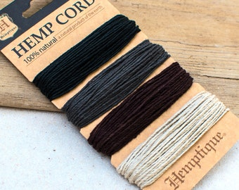 Hemp Twine, 1mm, 20lb, Birds of A Feather, Hemp Jewelry Cord -HC40