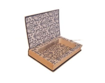 Hollow Book Safe Manners For Millions Cloth Bound vintage Secret Compartment Security hiding place Emily Post Etiquette