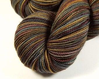 Hand Dyed Sock Yarn - Sock Weight Superwash Merino Wool Yarn - Agate - Knitting Yarn, Fingering Yarn, Earthtones, Black Sheep Dyeworks