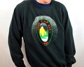 Vintage 80s Snow Cap Ale 1984 Sweatshirt