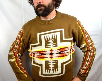 Vintage 1970s Southwest Geometric Sweater
