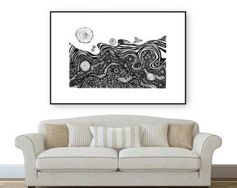 Blistering Sun Landscape Print