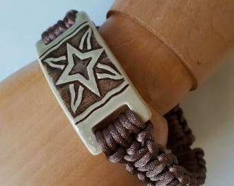 Ceramic Star Men's Macrame Bracelet