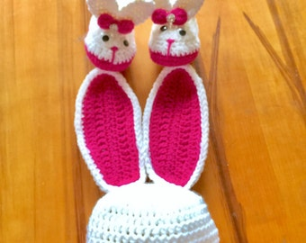 Baby Bunny Outfit - Newborn Bunny Outfit - Baby Bunny Easter Outfit - Baby Easter Outfit - Crochet Baby Bunny Outfit - Crochet Easter Hat
