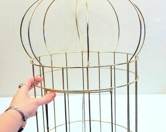 Mid Century Large Metal Birdcage