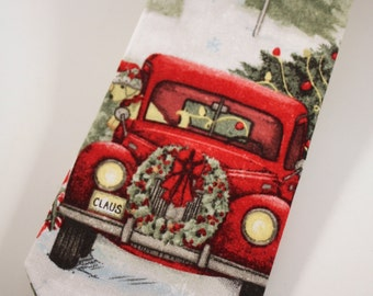 Little and Big Guy Holiday NECKTIE Tie - Christmas Tree Truck - (All sizes) - Baby Boy Toddler- Holiday Winter