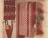 Butterick 3464 / Vintage Sewing Pattern / Closet Accessories / Garment bag / Umbrella Rack / Shoe Bag / Handbag Holder / Organizers