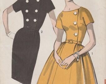 Advance 2958 / Vintage 60s Sewing Pattern / Dress / Size 14 Bust 34
