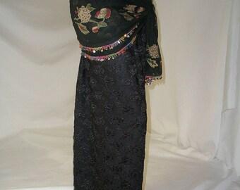 Black Harem Pants, Pantaloons, Belly Dance Costume, Gypsy Costume, Lace Harem Pants, Ren Faire Gypsy, Tribal Dance Pants, Belly Dancer