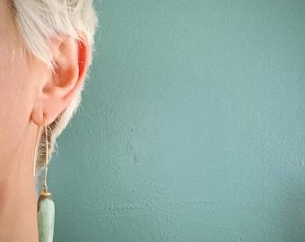 Extra Long Earrings. Big Bold Earrings. Mint Drop Earrings. Aqua Green Earrings. Drop Earrings. Big Stone Earrings. TaraLynEvans. JULIET