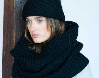 Knitting Loop Scarf : Handmade knit scarf etsy