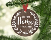 New Home Housewarming Gift New Home Ornament New Home Christmas Ornament New Home Gift Hostess Gift Personalized Christmas Ornament