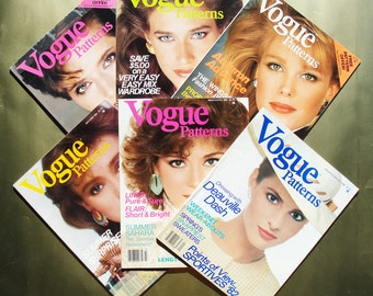 Vogue Patterns Magazines All 6 Issues from 1982  Great Fashion Photography, Illustrations, and Ads