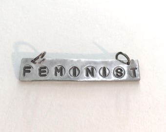 Feminist necklace, Women's March, Women's jewelry, Inspirational quote, Feminist jewelry, Speak Out, protest jewelry, silver necklace
