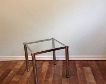 Small End Table, Side Table or plant stand chrome