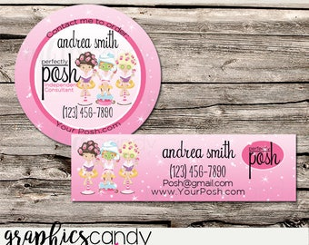 Perfectly Posh Pamper Independent Consultant Sticker Round or Rectangular - Multi Level Marketing - MLM - Product Label - Catalog Sticker