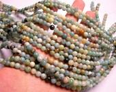 Amazonite - 6 mm round beads -1 full strand - 65 beads - RFG275