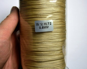 Nylon Cord - knotting/beading cord - 0.8mm - 780 meter - 2559 foot - Beige - BR3
