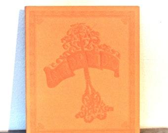 vintage leather scrapbook - 1960s-70s mid century new/unused scrapbooks 2 available