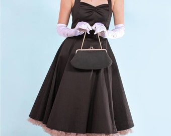 Black Classic Angie Halterneck Pinup Swing Dress