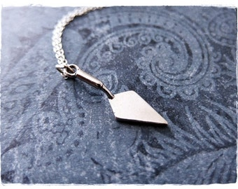 Silver Hand Trowel Necklace - Sterling Silver Hand Trowel Charm on a Delicate Sterling Silver Cable Chain or Charm Only