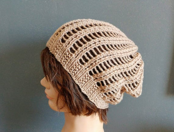 KNITTING PATTERN // PDF instant download // Worsted weight yarn lacy hat // Blüte