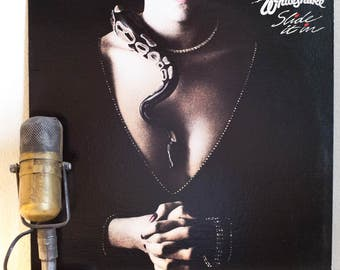 "ON SALE Whitesnake Vinyl 1980s Classic Rock and Roll John Sykes Guitar Hero ""Slide It In"" (1987 Geffen w/""Slow An' Easy"", ""Love Ain't No Str"