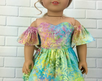 18 inch doll clothes AG doll clothes spring dress made to fit dolls like american girl doll clothes.