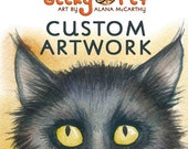 20 greeting cards of two custom pet portraits