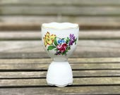 Collectible Porcelain Egg Cup Herend Double Egg Cup Floral China Egg Cup