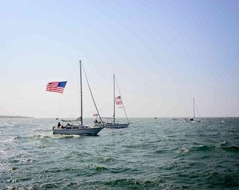 Sailing Prints, Nautical Wall Art, Ocean Inspired Nursery, Master Bedroom Decor, Sailing Art, Sailboat Photography, Coastal Fine Art Print