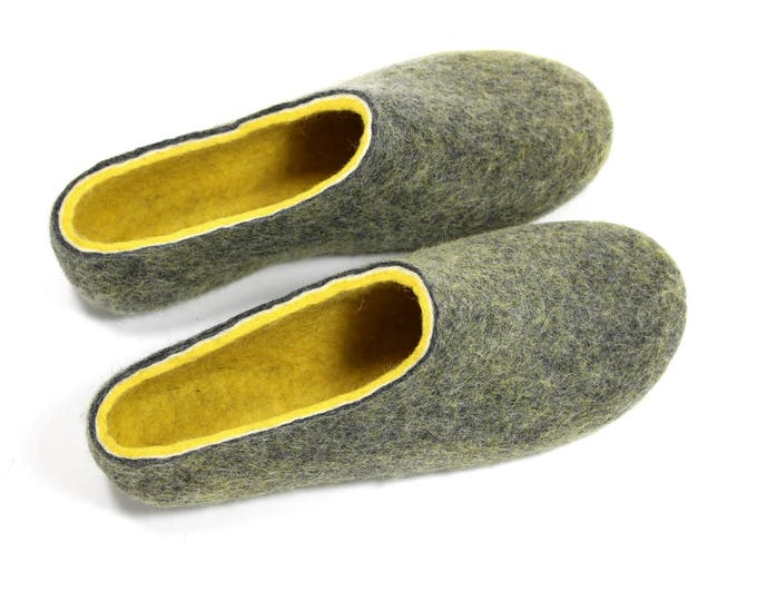House Shoes for Sale Men US 11.5-12, Wool Slippers, Mens Felted Slippers, Felt Slipper, Boiled Wool Shoes, Felt Shoes, Men Colorful Gift