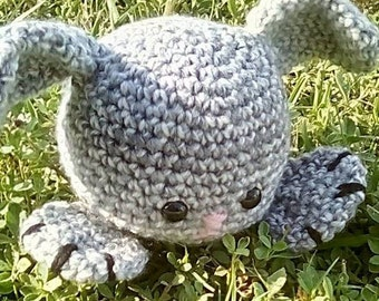 Clover the Big Foot Bunny Crochet Pattern