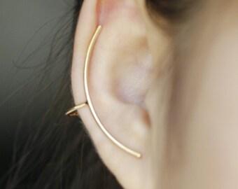 Ear cuff, goldtone earcuff, single ear wrap, trendy boho ear jacket, ear accessories, small ear cuff, teenage gift, valentine gift,
