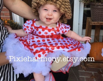 """Newborn up to 16"""" Head - Baby CURLY Hair Hat Wig - ANY Color - Photo Prop - Crochet - Made to Order - Also Reborn Doll Wig"""