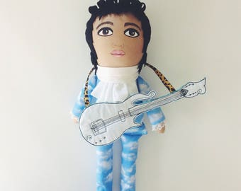 Prince - doll - cloud suit - Raspberry Beret - includes guitar