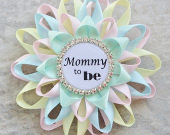 Neutral Baby Shower Pins, Gender Reveal Party Pins, Pink, Baby Blue, Yellow Baby Shower Decorations, Mommy to Be Pin, Gift for New Mom