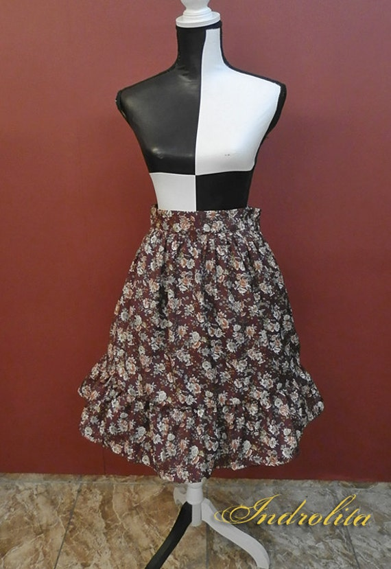 Gothic Lolita Skirt, Otome Casual Lolita, Floral
