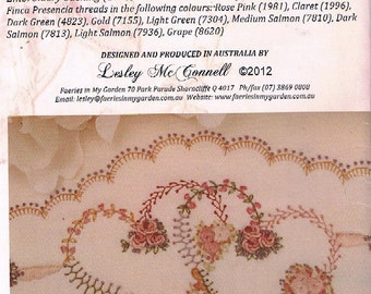 Embroidered Pillowcase Pattern/ Project 'Penelope'  - Original Design & Pattern by Faeries in My Garden