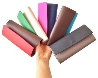 Personalized wallet for women, vegan leather wallet, clutch wallet, cash envelope wallet, faux leather wallet, wallet women, gift for her