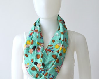 Hey Arnold Infinity Scarf (2 sizes - child or adult) Football head, 90s shows, vintage shows, hey arnold helga, hey arnold martin, 90s party