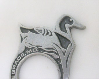 Duck Silver Napkin Ring /