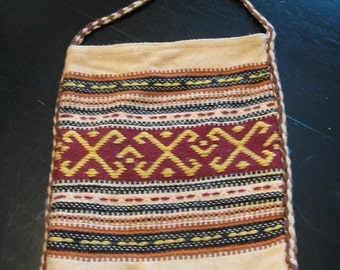 1970s Bohemian Chic Sac Bag Greece Market Bag Student Bag Hippie Cross Body Bag