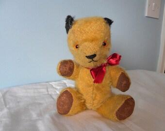 """Chad Valley Sooty Bear - 9"""" Mohair Jointed Sooty Teddy Bear - 1950's Sooty Bear"""