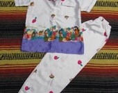 vintage satin snow white and the 7 dwarves pajama set