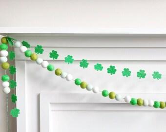 Mini Clover Felt Banner, Photo Prop, Decoration - St. Patrick's Day