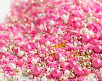 FLAMINGO Bulk Twinkle Sprinkle Medley, Pink, Pastel and Gold, Pastel Sprinkles, Gold, Sprinkle Mix