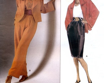 Vogue American Designer 2502 by Anne Klein Sewing Pattern for Misses' Jacket, Skirt and Pants - Uncut - Size 8, 10, 12